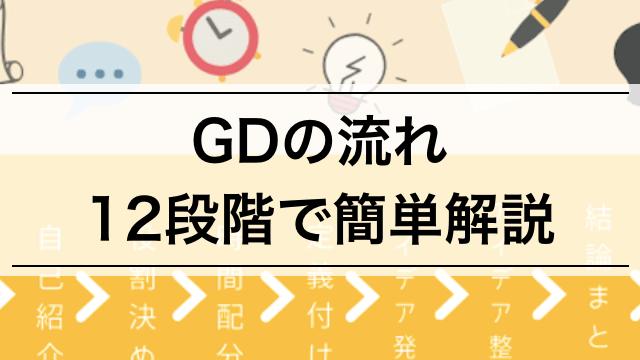 【就活内定者が教える】グループディスカッションの流れ12段階 | GDの全体像を把握しよう