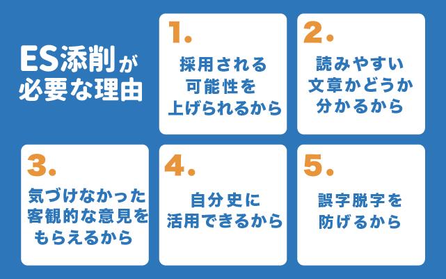 エントリーシートの添削が必要な理由5つ