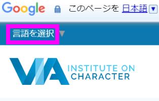 via is 言語選択