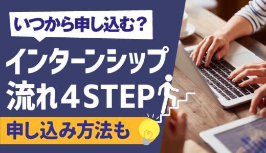 【いつから申し込む?】インターンシップ全体の流れ4STEP | 選考対策のやり方,申し込み方法,メールの書き方も